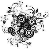 Floral background. Grunge floral background, vector illustration vector illustration