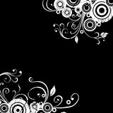 Floral background. Grunge floral background, vector illustration stock illustration