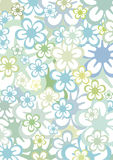 Floral background. A background out of flowers in different colors and sizes. This file is also available as EPS-file Stock Photography