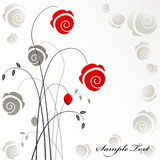 Floral background. Vintage floral background with red roses Stock Photography
