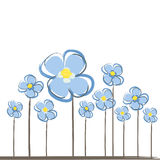 Floral background. Abstract background with cute snowdrops Royalty Free Stock Images