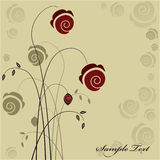 Floral background. Vintage floral background design with roses Stock Photos