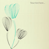 Floral background. Delicate floral background in gentle colors Stock Photo