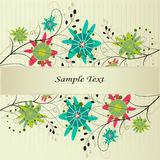 Floral background. Bright floral background with colorful flowers Royalty Free Stock Photography