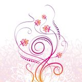 Floral background. With scroll curves Stock Photos