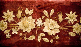 Floral background. A retro floral textured background Royalty Free Stock Photos