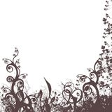 Floral background #3. Floral background silhouette on white background Royalty Free Stock Image