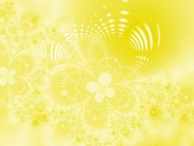 Floral background. Floral fantasy. Yellow floral background Stock Images