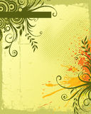 Floral background. Vector abstract grunge floral background vector illustration
