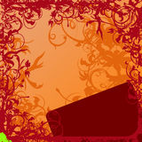 Floral Background. Vector Illustration. No Meshes Stock Image