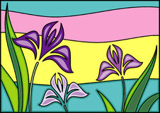 Floral background. This is a vector image - you can simply edit colors and shapes stock illustration