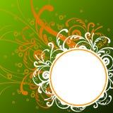 Floral background. Illustration drawing of floral frame Stock Illustration