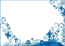 Floral  background. Blue grunge christmas snowflakes floral  background Royalty Free Stock Image