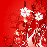 Floral background. With illustration drawing Stock Illustration