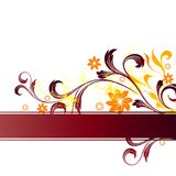 Floral background. With illustration drawing Vector Illustration