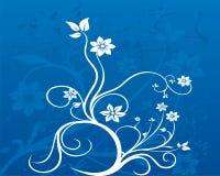 Floral background. Grunge floral background with Vector illustration vector illustration