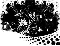 Floral background. Decorative floral background, vector illustration Stock Photo