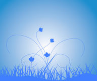 Floral background. Floral blue background, vector illustration vector illustration