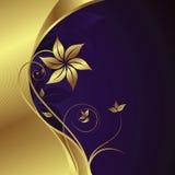 Floral background. Illustration of golden floral background Royalty Free Stock Photo