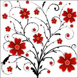 Floral background. Illustration, red vector floral background Royalty Free Stock Photos