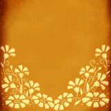 Floral background. Aged paper Royalty Free Stock Images