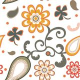 Floral background. Seamless floral background on white Royalty Free Stock Photo