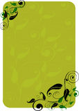 Floral background. Green floral background with leaves stock illustration