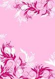 Floral background. Pink floral background - vector illustration stock illustration