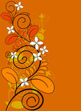 Floral background. Autumnal floral background with flowers vector illustration