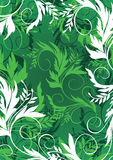 Floral background. In green palette Royalty Free Stock Image