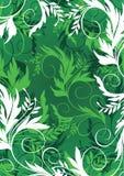 Floral background. In green palette royalty free illustration