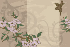 Floral background. A floral background with oriental feel royalty free illustration