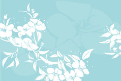 Floral background. An abstract floral background with an oriental feel vector illustration