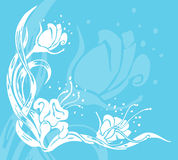 Floral background. An abstract floral background royalty free illustration