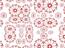 Floral background. Red flowers on a white background Royalty Free Illustration