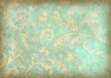 Floral background. Floral grunge background on stained Textured Stock Image
