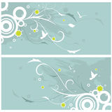Floral background. Abstarct floral pattern background vector Royalty Free Stock Photo
