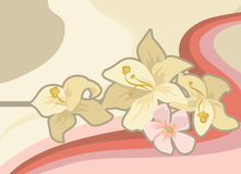 Floral background. A background with flowers stock illustration