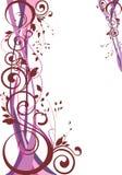 Floral background. Abstract floral frame - vector illustration royalty free illustration