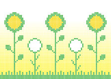 Floral Background. Floral pixel background, vector illustration Royalty Free Stock Photo