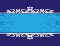 Floral background. Blue floral background with place for your text Royalty Free Stock Photo