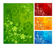Floral background. With flowers illustration, nature ornament, vector Stock Image