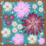 Floral Background. Colorful daisy mum themed background vector illustration