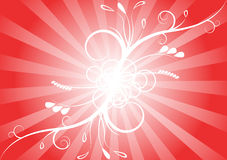 Floral background. Simple red abstract floral background Stock Photos