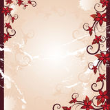 Floral background. Red beautiful summer floral background Royalty Free Illustration