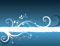 Floral background. Beautifull summer blue floral background Royalty Free Illustration