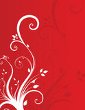 Floral background. Beautifull summer red floral background Stock Illustration