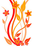 Floral background. Vector illustration of a colorful floral background Royalty Free Stock Photo