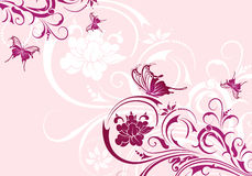 Floral background. With butterfly, element for design, vector illustration Stock Photography