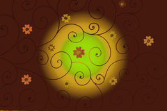 Floral background. Floral colorful brown abstract background Stock Images
